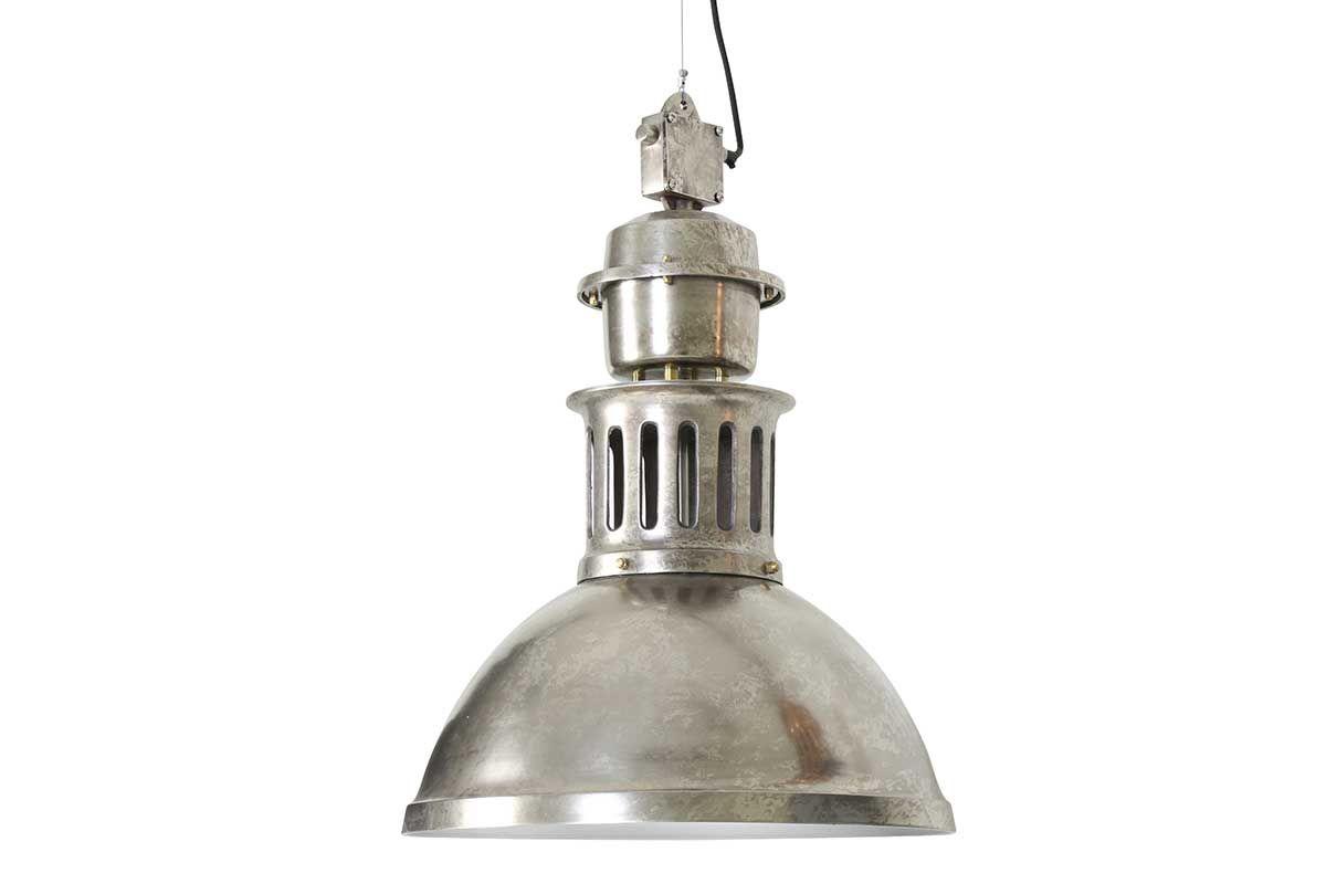 Metall Hängeleuchte klassisch Silber