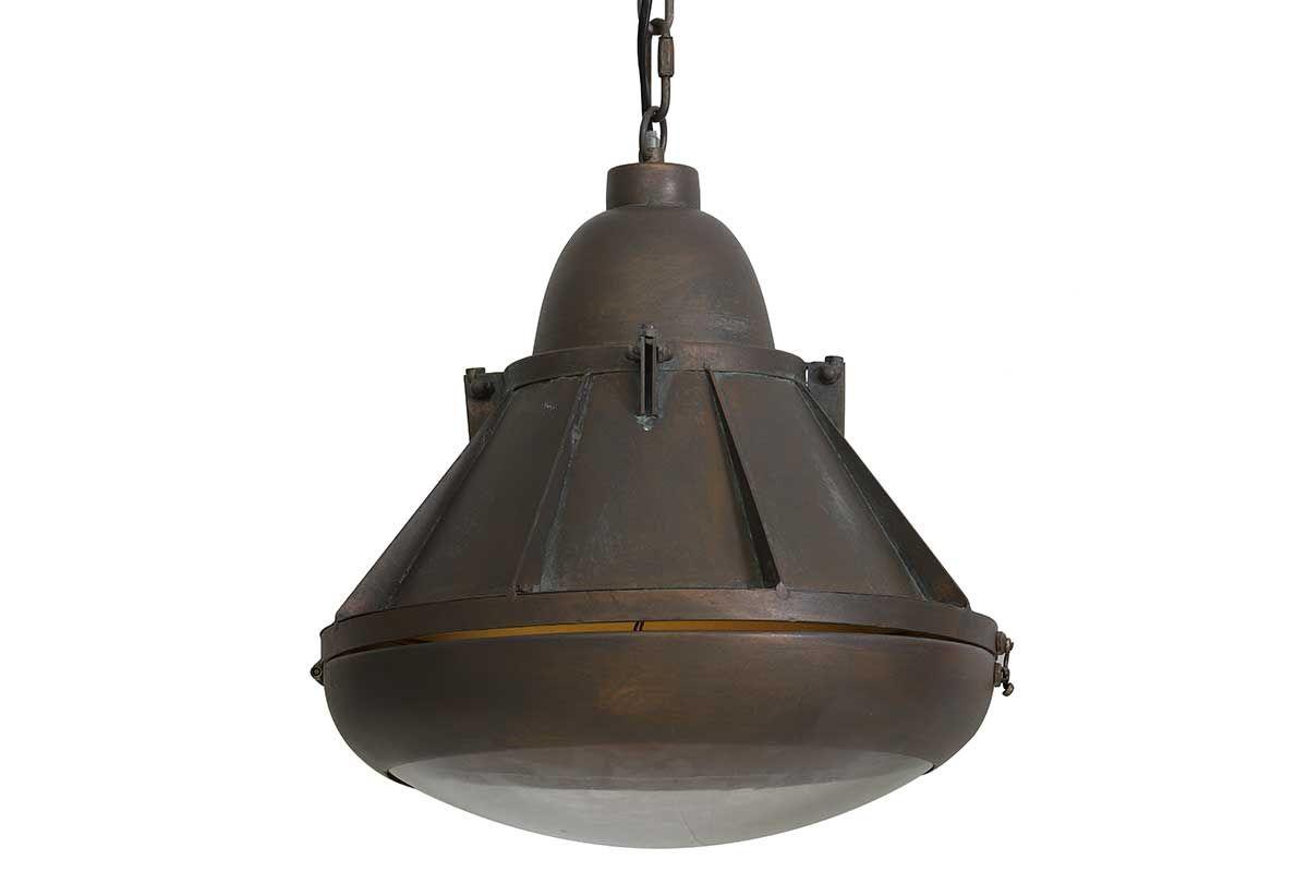 Fabriklampe Kupfer Antik