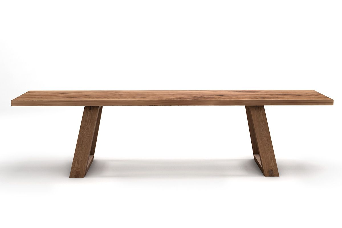 Massivholzsitzbank Eiche nach Maß Nordic-Design