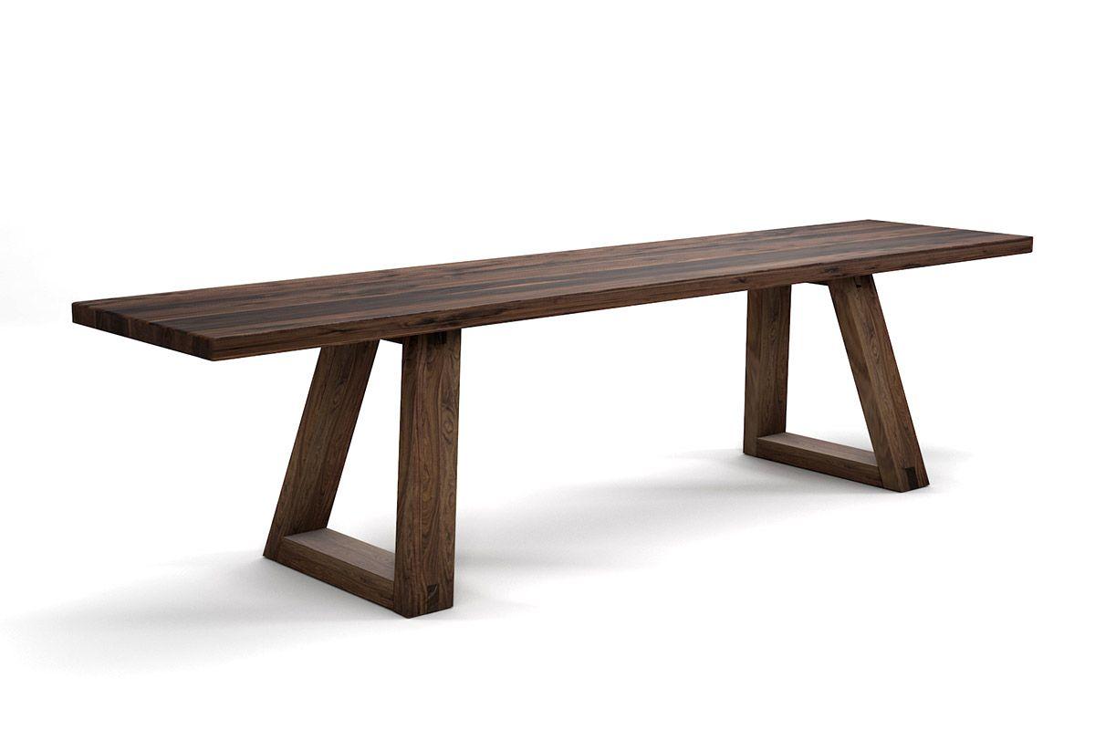 Nussbaum Sitzbank modern auf Maß
