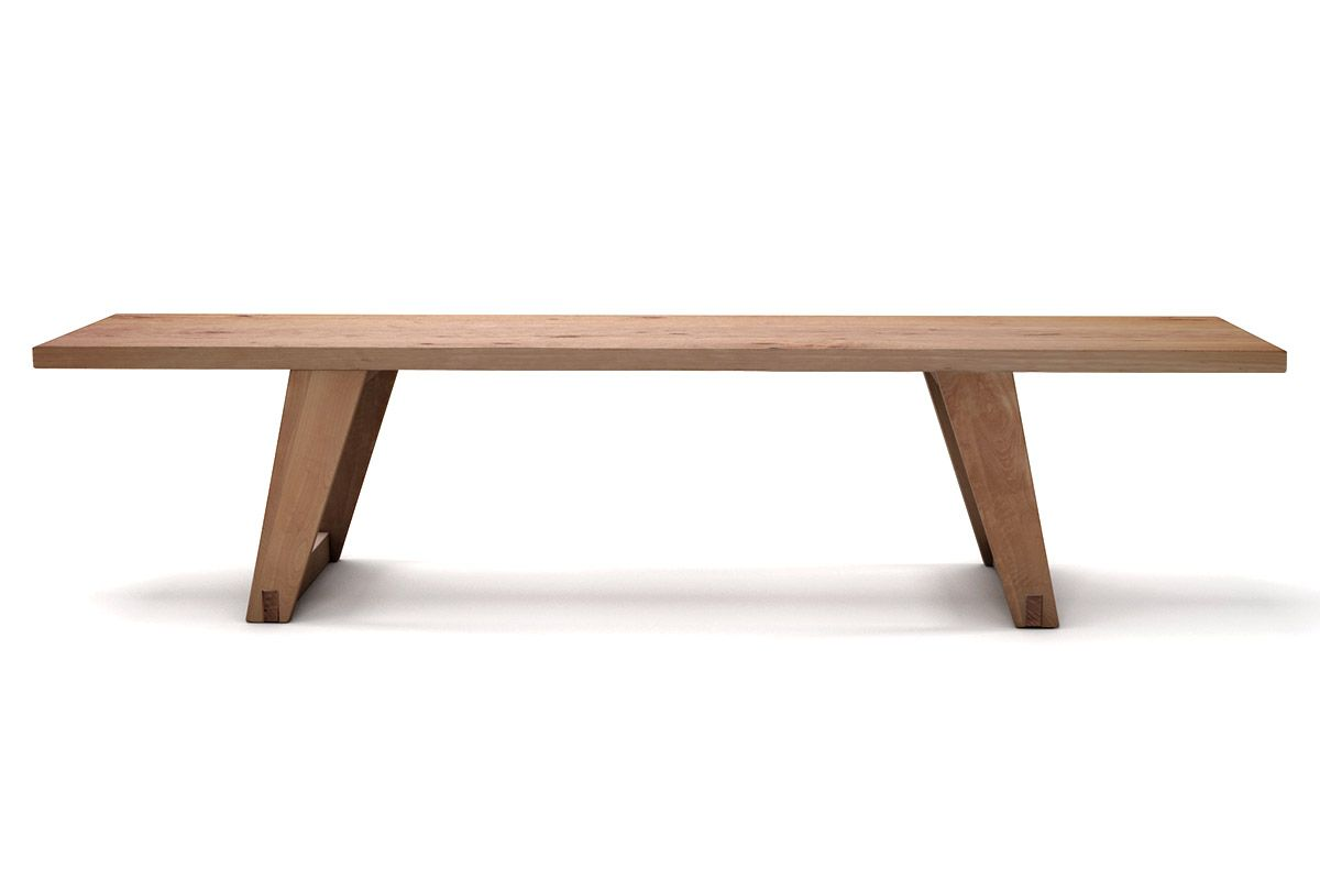 Echtholz Bank aus Buche Massivholz mit Astanteil nach deinem Maß gefertigt