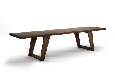 Holzbank Esstisch Eiche in weitgehend ast- und splintfreier Qualität gefertigt, Modell Lh231-B.