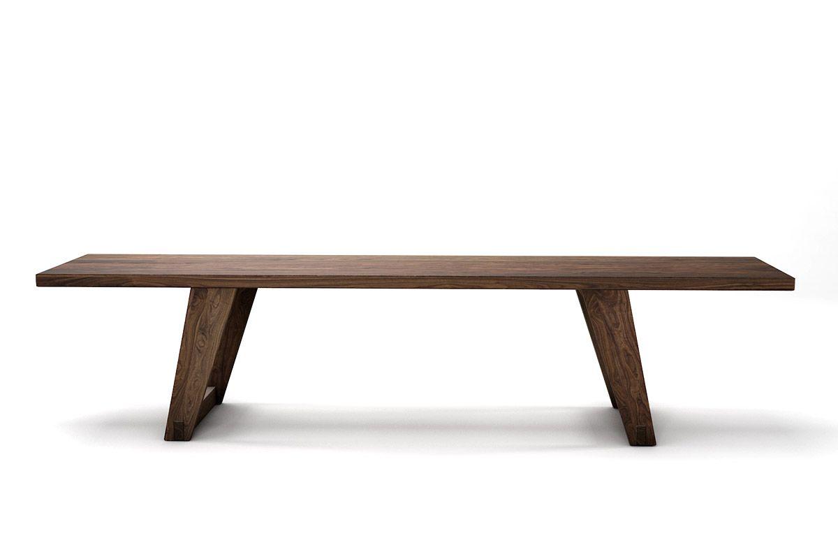 Massivholz Sitzbank aus Nussbaum astfrei in 4cm Stärke nach deinem Maß gefertigt.