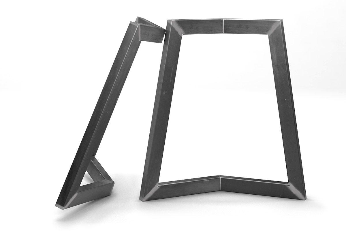 Metall Tischkufen individuell nach deinem Maß und deiner Stahlart gefertigt.