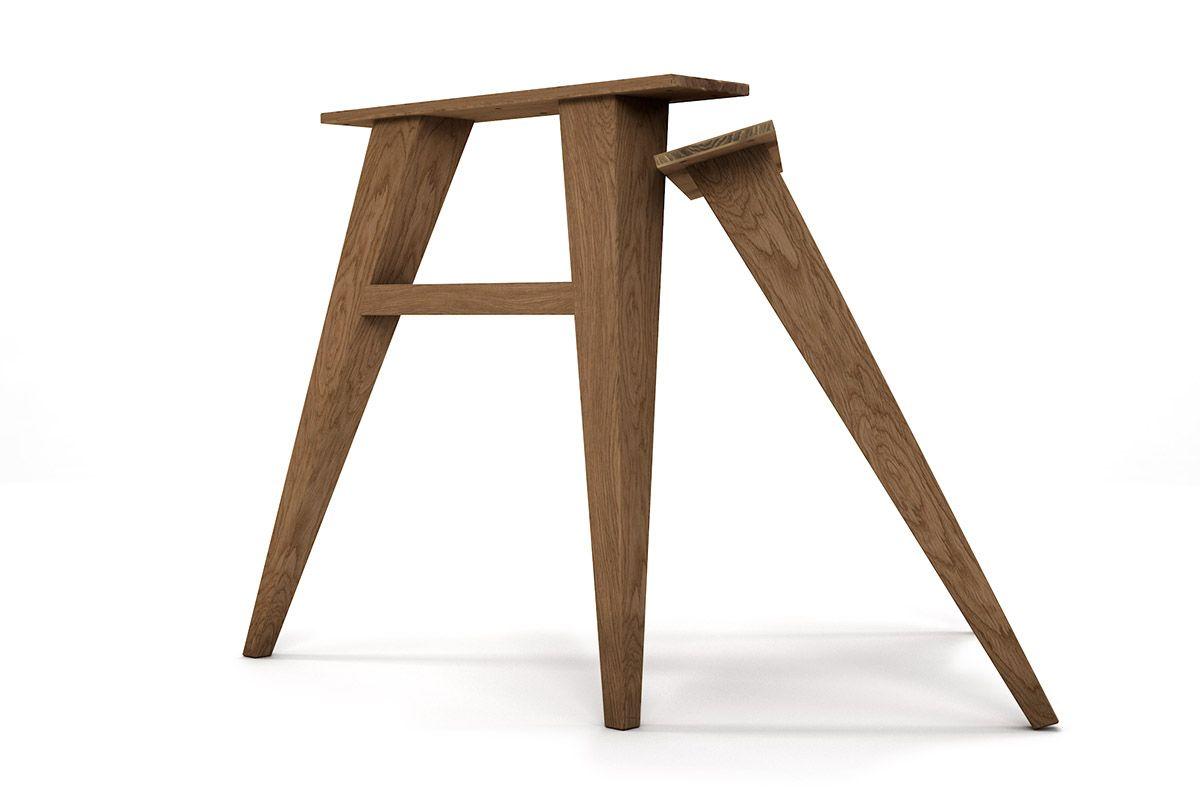 holz tischbeine konisch schr g in eiche holzpiloten. Black Bedroom Furniture Sets. Home Design Ideas